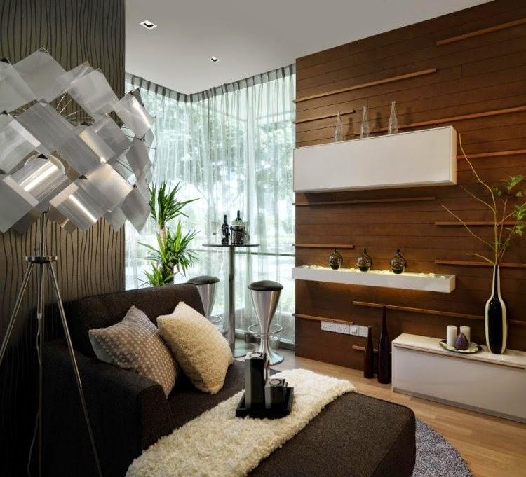 decoración sala moderna pequeña