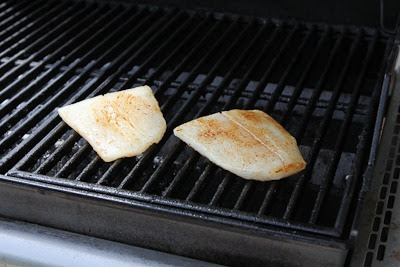 Grilled Halibut with Basil Vinaigrette (And Ten More Ideas for Using Basil Vinaigrette) found on KalynsKitchen.com