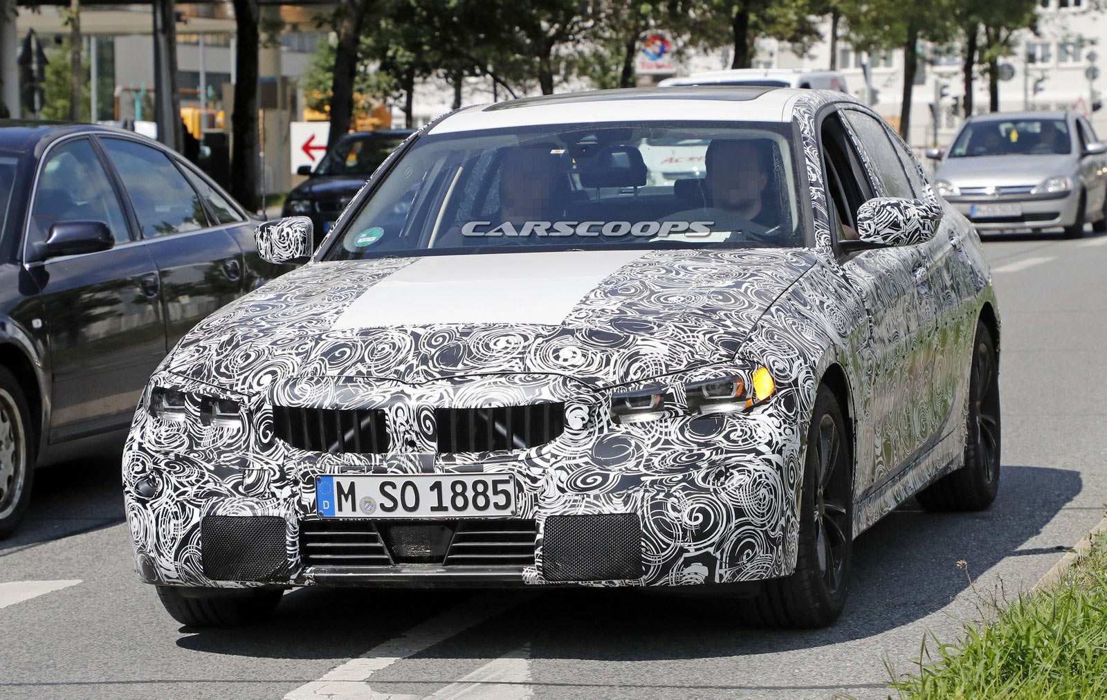 2019 BMW 3-Series Prototype Reveals Production Lights ...