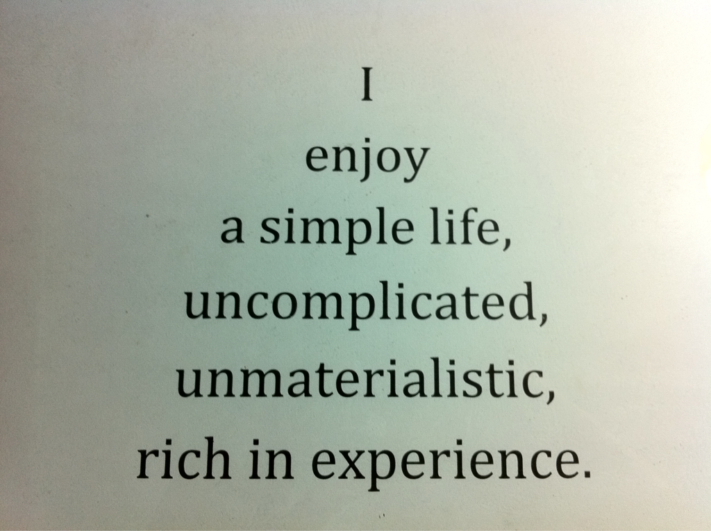 Quotes About A Simple Life: Asfiya Irfan: April 2014