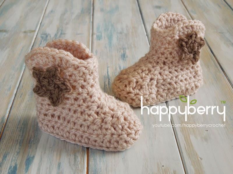 Happy Berry Crochet How To Crochet Cowboy Baby Boots Yarn Scrap