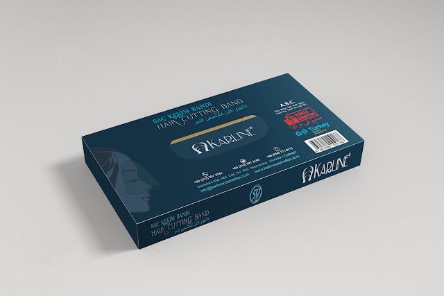 Karline Cosmetics Saç Bandı Ürün Kutu Tasarımı Etiket Tasarımı