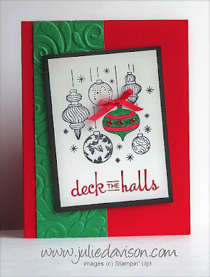 Stampin' Up! Beautiful Baubles ~ This or That? ~ 2018 Holiday Catalog ~ Christmas ~ www.juliedavison.com