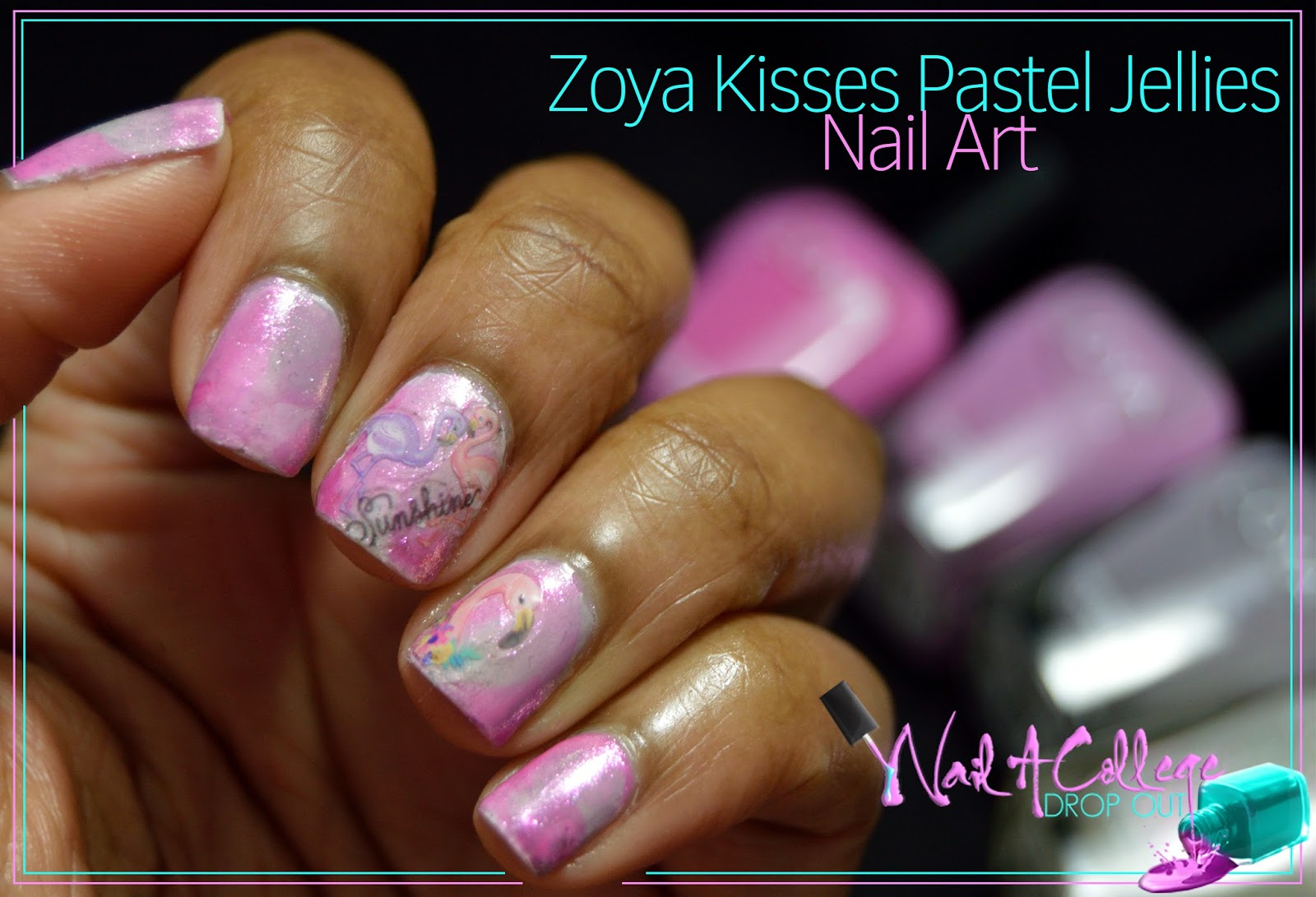 Nail A College Drop Out: Zoya Kisses Pastel Jellies Nail Art