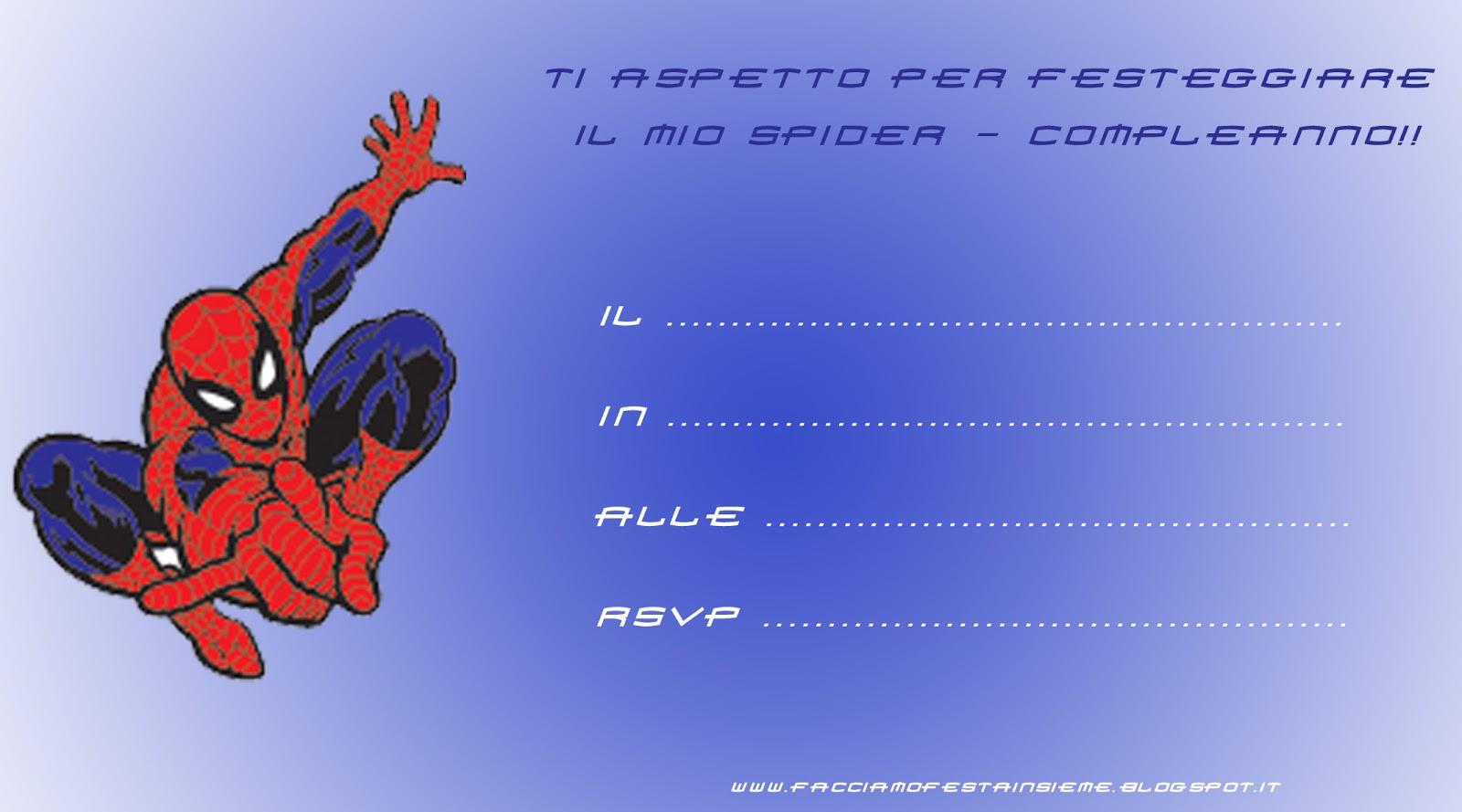 Biglietto d'invito per festa di compleanno Spider Man. ~ Facciamo
