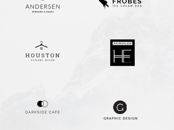 Download 15 Free Minimalistic PSD Logo Templates
