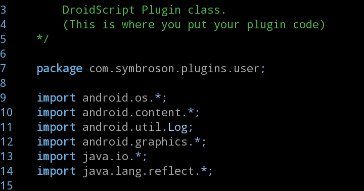 Creating DroidScript Plugins on Mobile with AIDE