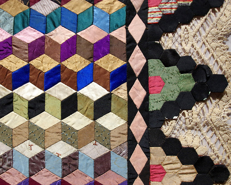 Sailor's Tumbling Block Quilt 1946 - Unknown Maker | Making the Australian Quilt 1800-1950 | © Red Pepper Quilts 2016