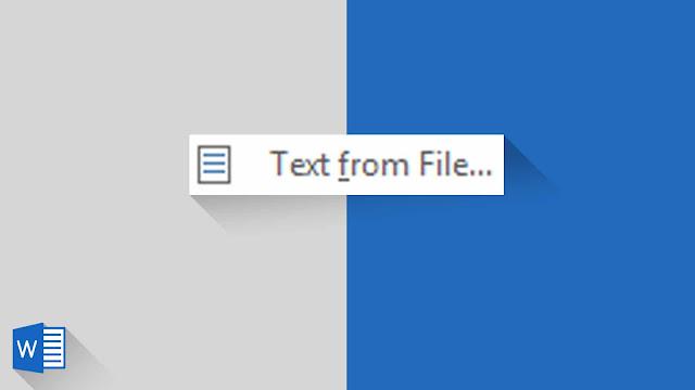 Panduan Lengkap Menambahkan File/Konten Ke Dokumen Saat Ini di Word 2019