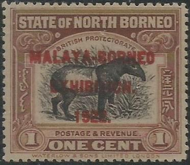 Borneo Exhibition 1 Cent