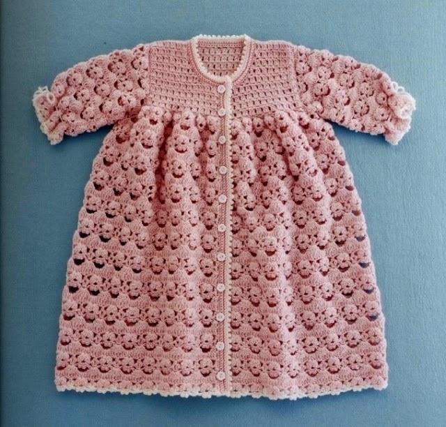 Abrigo para bebé - con moldes y patrones para tejer al crochet