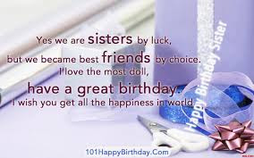 birthday wishes sister and sister by lucky