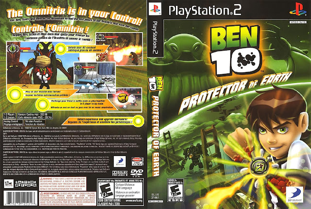 Capa PS2 Ben 10 Protector of Earth
