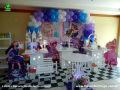 Tema Barbie Pop Star para decoração de festa de aniversário infantil de meninas - mesa ornamentada de festa infantil