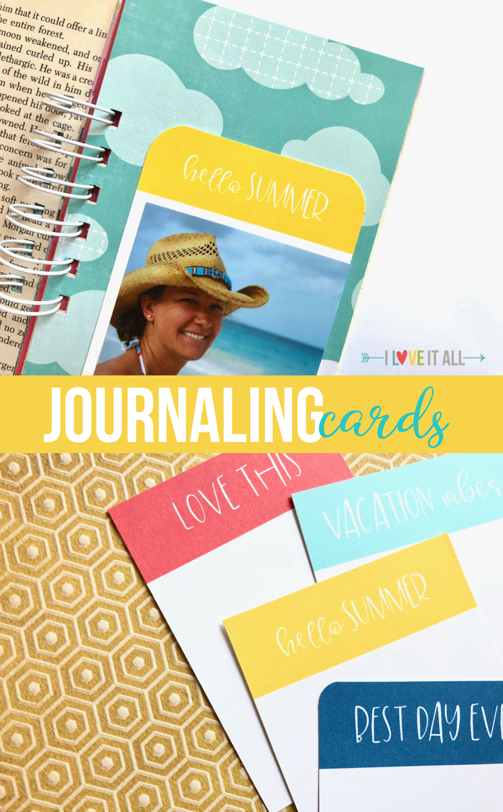 #hello summer #vacation vibes #best day ever #love this #journaling cards #printable #summer #summertime