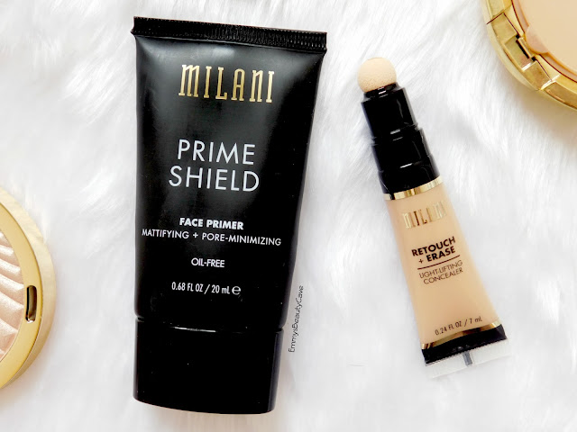 Milani Prime Shield Primer Review, Milani Retouch and Erase Light Lifting Concealer