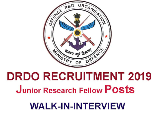 apply online for DRDO recruitment 2019