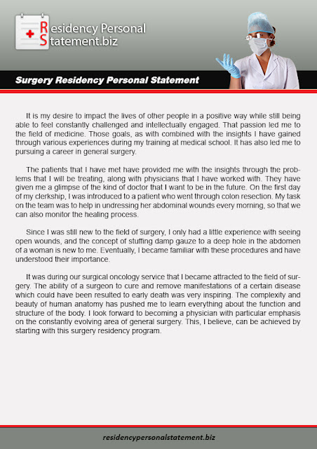 good general surgery personal statement