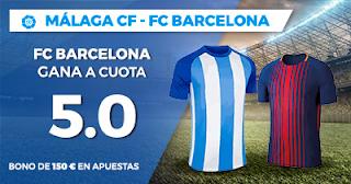 Paston Megacuota LaLiga Santander: Málaga vs Barcelona 10 marzo