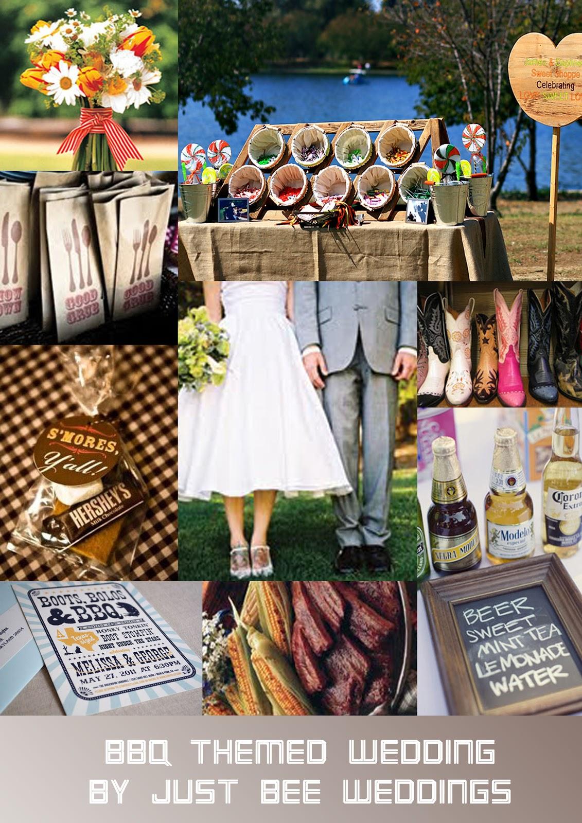 Just Bee Fashion BBQ Themed Wedding