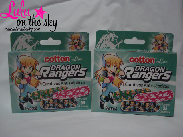 Cotton Line Dragon Rangers Curativos Antissépticos: eu testei - blogluluonthesky