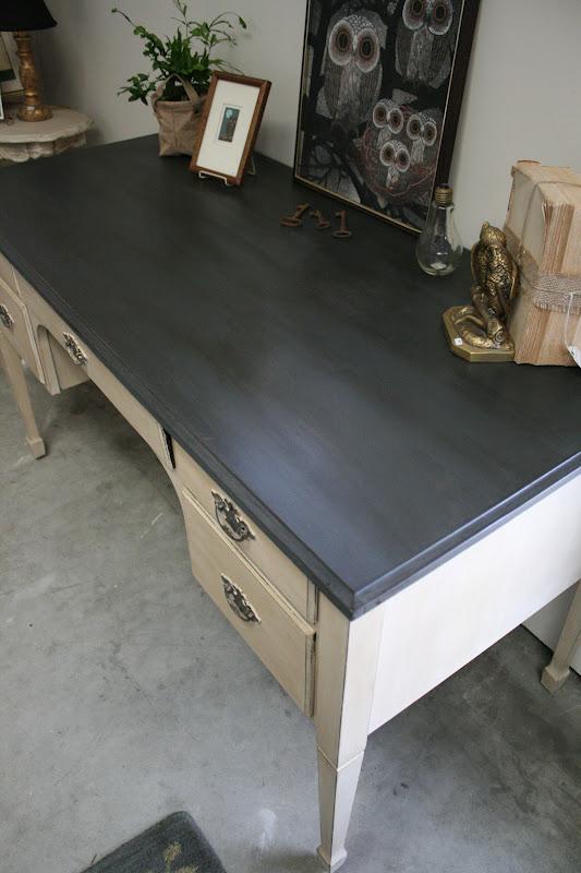Reloved Rubbish Graphite And Old Ochre Desk