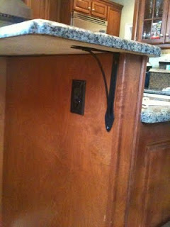 Install Outlet Kitchen Island