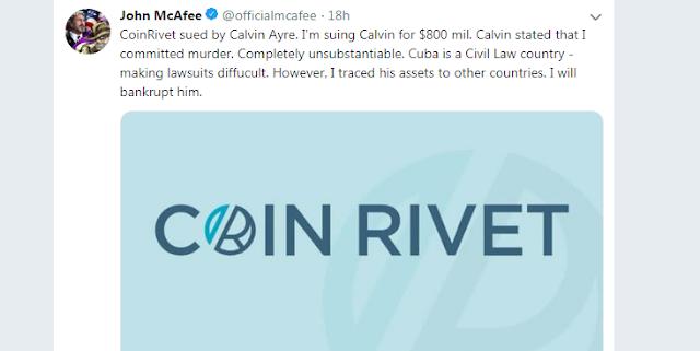 The Bitcoin SV [BSV]: John McAfee hit back against Calvin Ayre