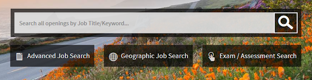 Image of the job search box on CalCareers homepage