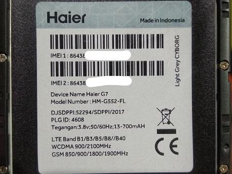 Firmware & Tool Haier G7 HM-G552-FL