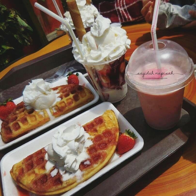 waffle strawberry