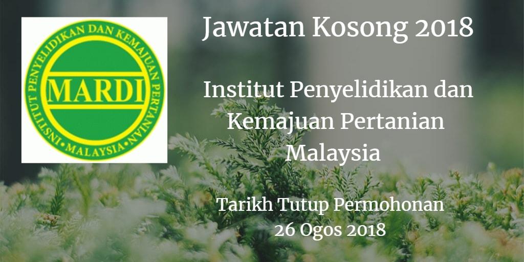 Jawatan Kosong MARDI 26 Ogos 2018