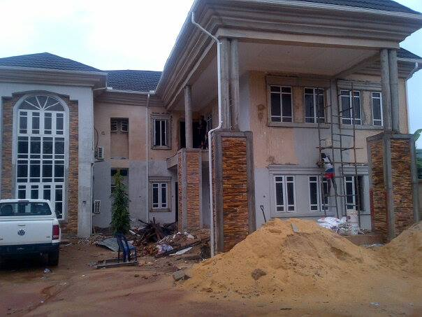 exterior ez fit stones on a Nigerian building