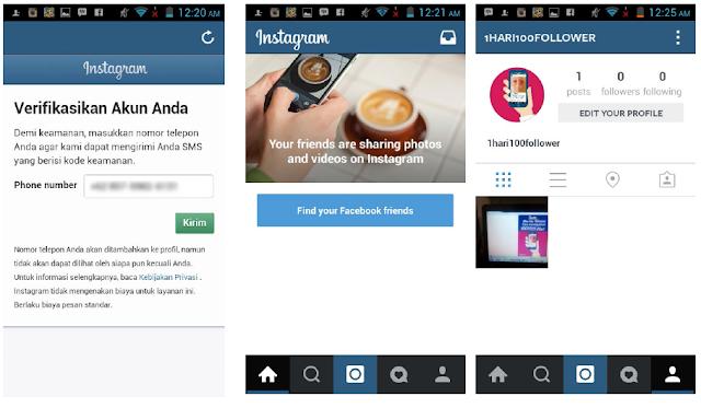 membuat akun Instagram dengan e-mail