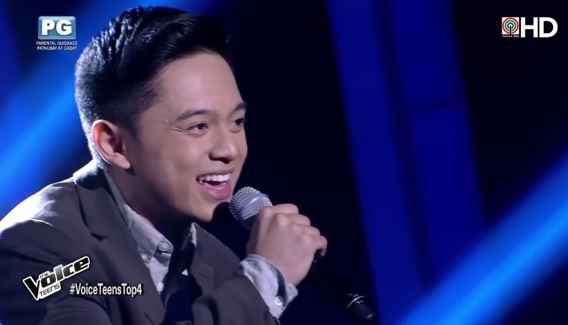 """Jeremy Glinoga is Team Sharon's bet for """"The Voice Teens"""" grand finals"""