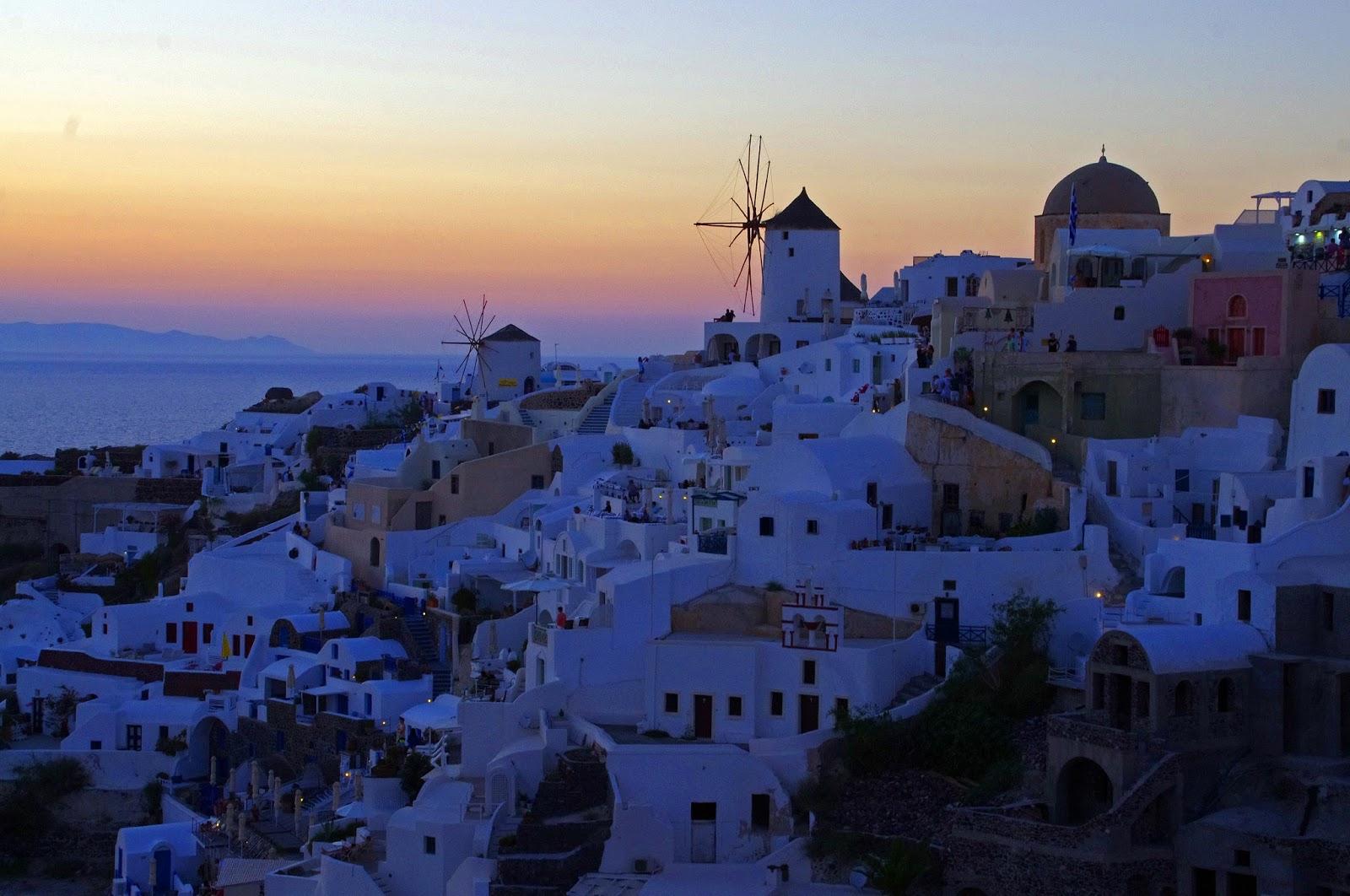 Sunset Dusk Oia Santorini