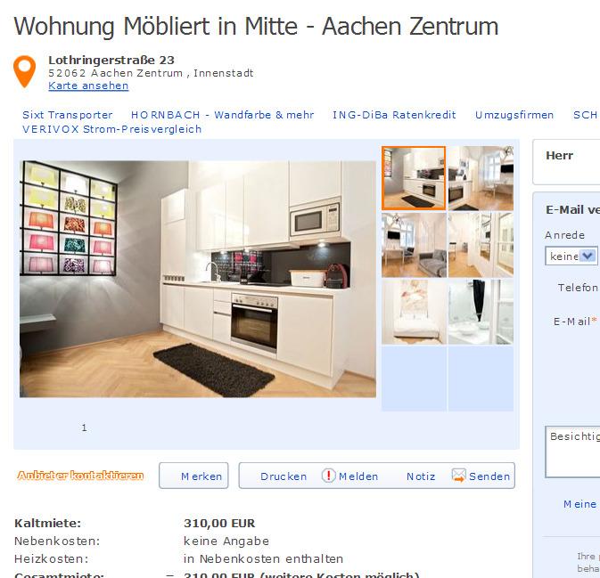 Wohnung Mbliert in Mitte  Informationen ber Wohnungsbetrug