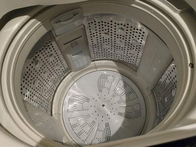 洗濯槽を洗浄した