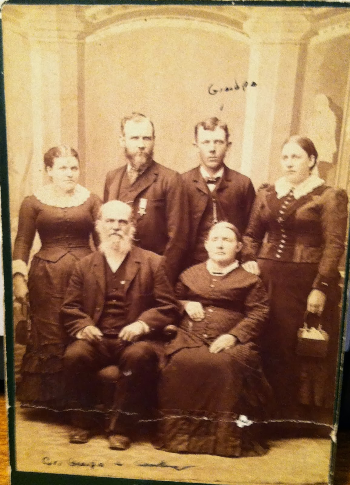 Climbing my Family Tree: Crawford Erwin & 2nd wife Rachel, with Angeline Erwin Britten, John Erwin, Edward Everett Erwin, and Elizabeth Adeline Erwin Kenley Henderson