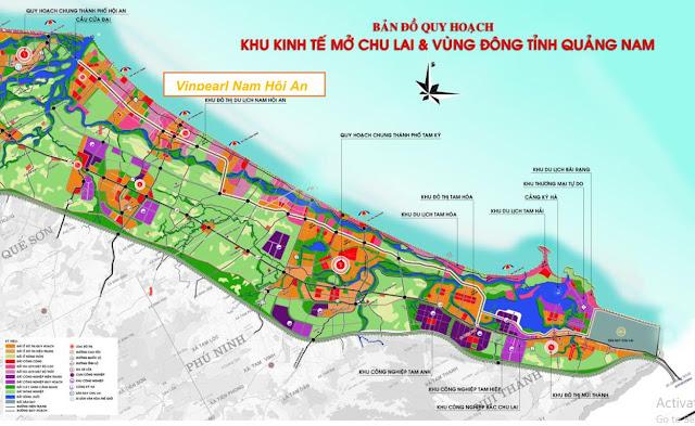 Bản đồ quy hoạch dự án VINPEARL Nam Hội An