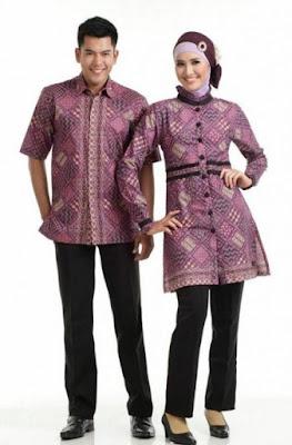 model baju batik couple pasangan untuk keluarga