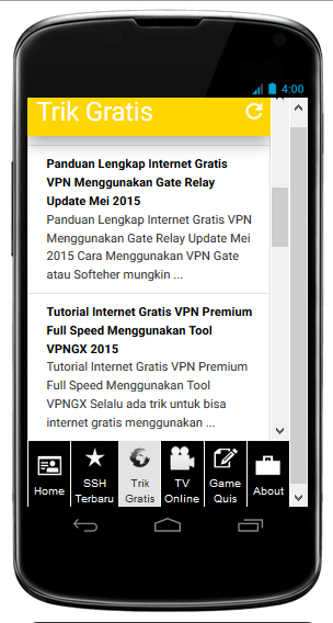 401XD Apps V1.1 Terbaru Agustus 2015 Full Acces For Android | 401XDApps.Apk