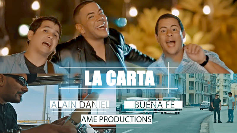Alain Daniel y Buena Fe - ¨La Carta¨ (versión Salsa) - Videoclip - Director: Amed Medinilla. Portal Del Vídeo Clip Cubano