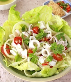 best calamari salad recipe with spicy lime dressing