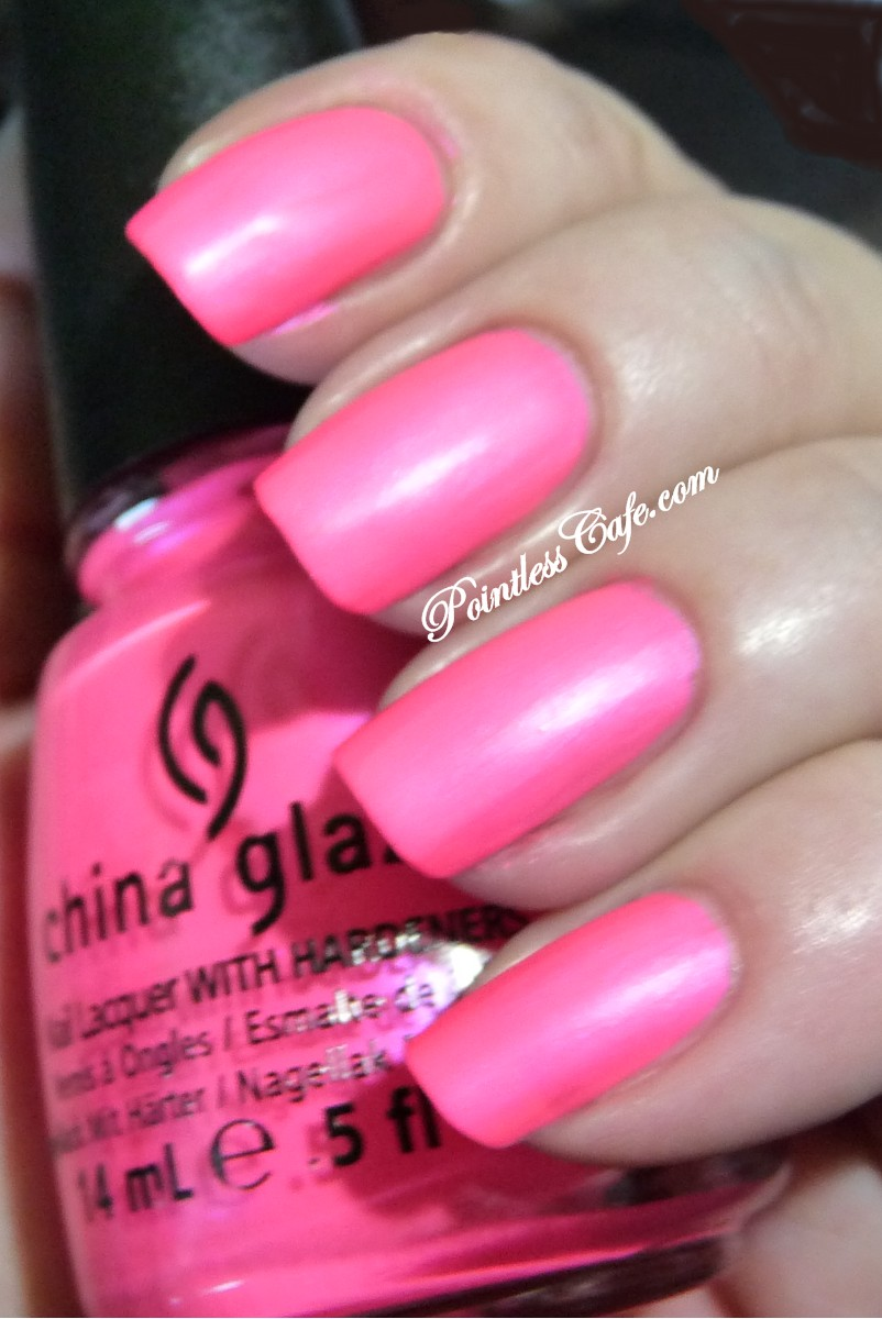 China Glaze Presenta Crakle Glaze: China Glaze Pink Voltage (Neon)
