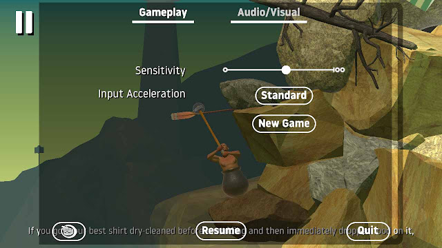 kau tau tidak sama game berjulukan Getting Over It Cheat Getting Over It with Bennett Foddy Android Apk Gratis