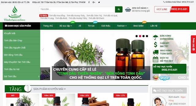 Cách đăng sản phẩm trong template Tinhdauonline.com.vn