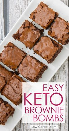 Keto Brownie Bombs