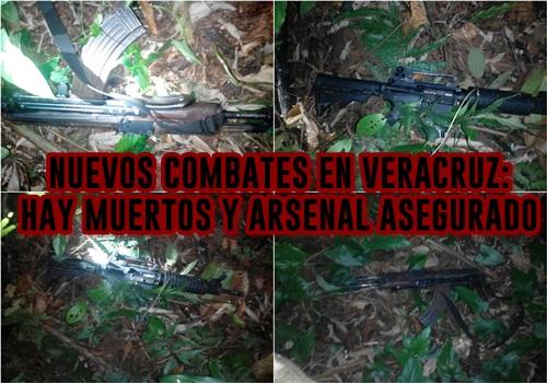 Sangrientos combates entre comandos de civiles y fuerzas estatales de Veracruz deriva en tres muertes y un arsenal asegurado