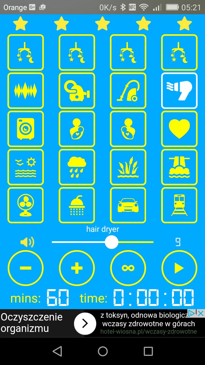 aplikacja uspokajająca niemowlaka